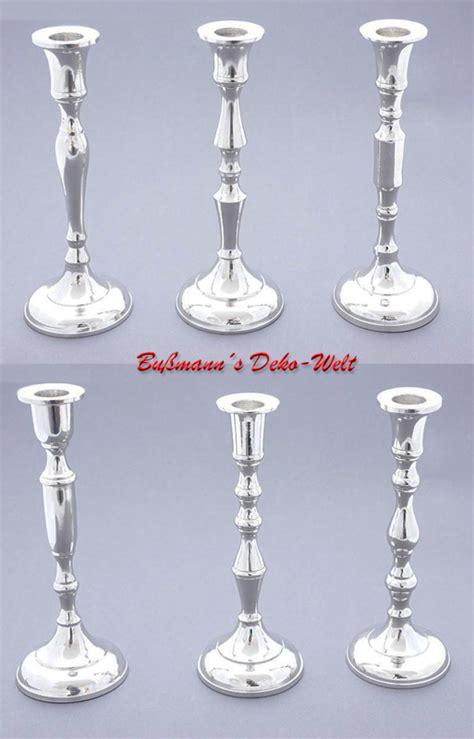 stumpen kerzenhalter silber 6 kerzenhalter silber kerzenst 228 nder leuchter aluminium ebay