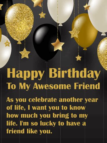 bring joy happy birthday wishes card  friends