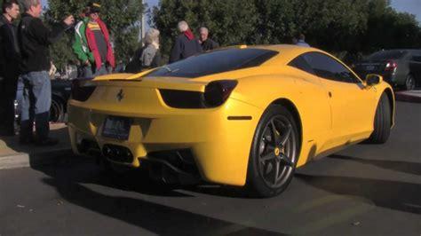ferrari yellow paint code 458 italia pearl yellow with start up youtube