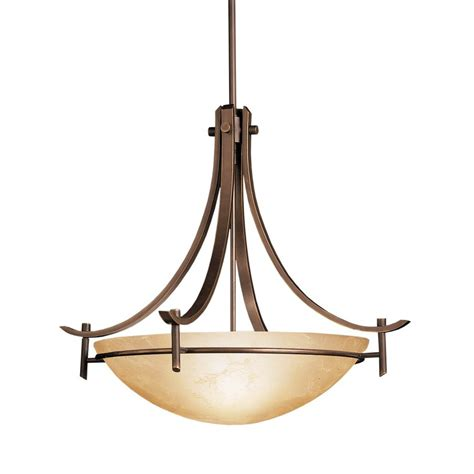 Pendant Bowl Lighting Fixtures Shop Kichler Olympia 24 In Olde Bronze Hardwired Single Marbleized Glass Bowl Pendant At Lowes