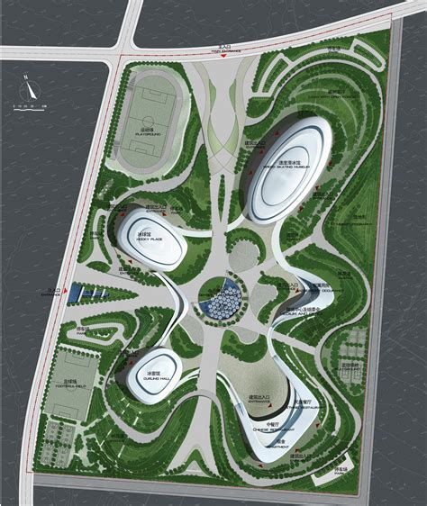 Design Plan gallery of ice sports center of the 13th china national