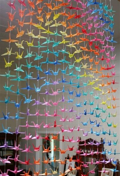 Origami Crane Curtain - origami cranes curtain crafts
