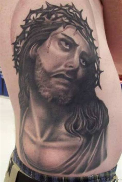 black jesus tattoo 30 best jesus tattoos on rib