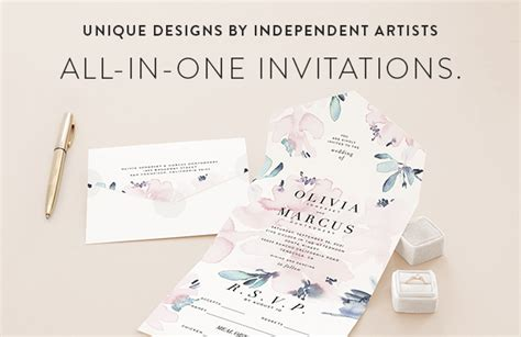 wedding invitations all in one all in one wedding invitations minted