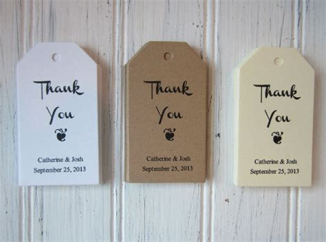 thank you favor tags template wedding gift tag template word mini bridal