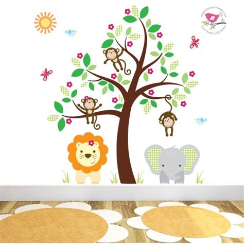 baby room wall stickers uk jungle wall stickers for a baby nursery room