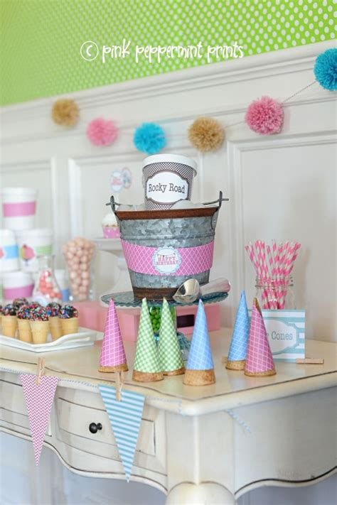 pink peppermint get the look parties the ice cream shoppe party