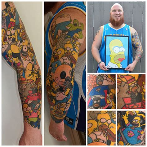 homer tattoo new zealand sets world record for character