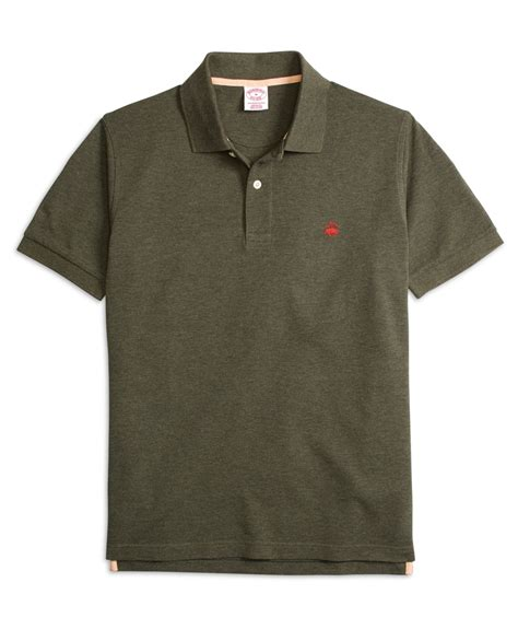 Baju Sweater Pria Original Uniqlo Sweats Henley Navy brothers original fit heathered polo shirt in green for lyst