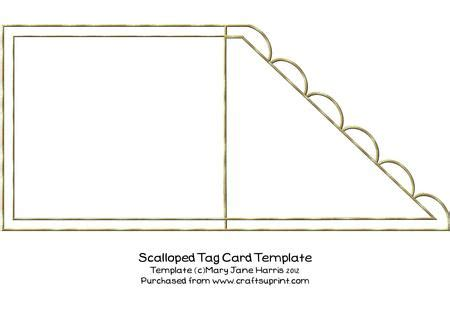scalloped edge large with point card template scalloped tag card template cu4cu cup341134 99
