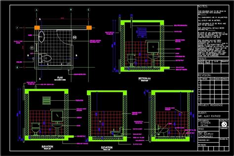 Toilet Details DWG Plan for AutoCAD ? Designs CAD