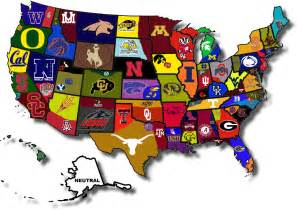 united states of college football a map of fan borders