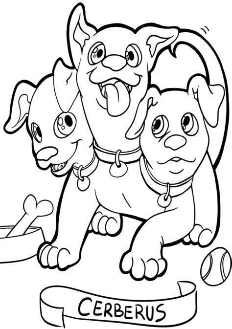Cerberus Coloring Pages cerberus free coloring pages