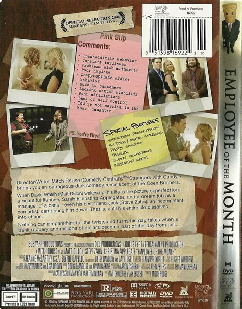 matt dillon employee of the month employee of the month dvd matt dillon christina applegate