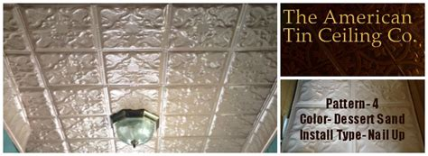 new tin ceiling using american tin ceiling tiles