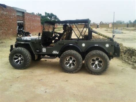 jeep modified a modified version of willys jeep now converted into a 6x6