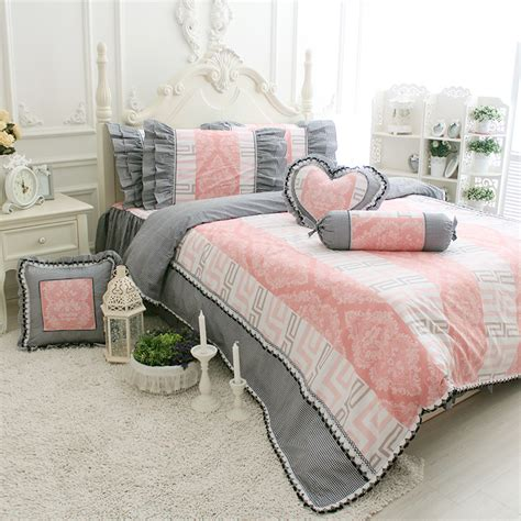 grey and pink bedding grey ruffle comforter promotion shop for promotional grey