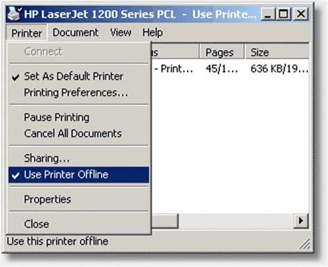 why is my printer offline printer offline