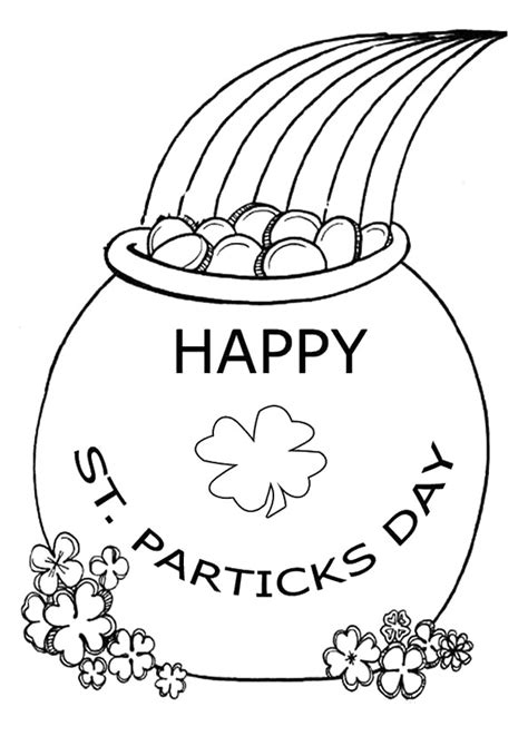 gold star coloring page rainbow and pot of gold coloring pages for kids coloringstar