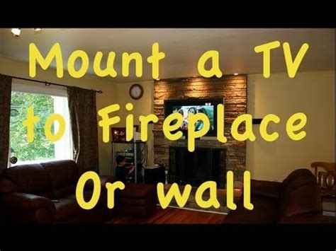 Can I Mount A Tv Above A Gas Fireplace by How To Mount Flatscreen Tv A Place