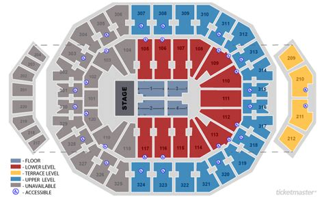 layout of kfc yum center kfc yum center seating chart kfc yum center yum center