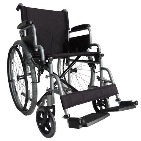 sedia a rotelle inglese foxhunter argento semovente pieghevole leggero sedia a