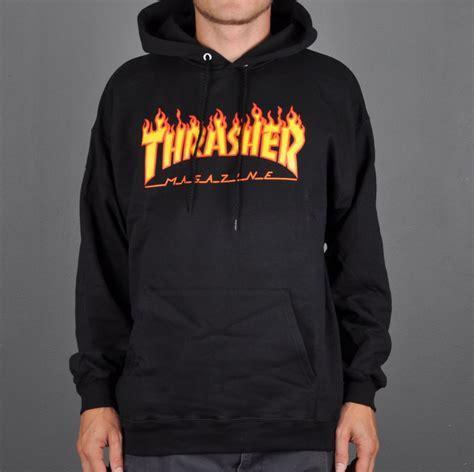 Thrasher Hoodie Black thrasher logo hoodie black beyond