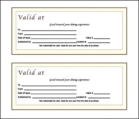 fancy gift certificate template free fancy restaurant gift certificate template