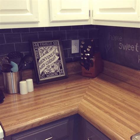 diy chalkboard backsplash chalkboard backsplash home