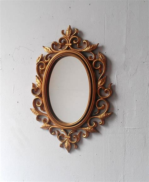 oval wall mirrors decorative gold wall mirror in decorative vintage oval frame