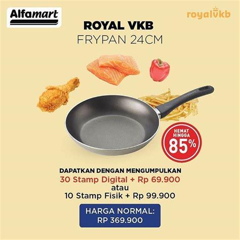 Panci Royal Vkb Alfamart tambah koleksi alat masak anda dengan promo royal vkb