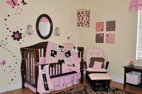 Baby Nursery Decor Inspiring Designing Baby Girl Nursery Pink And Brown Nursery Decor