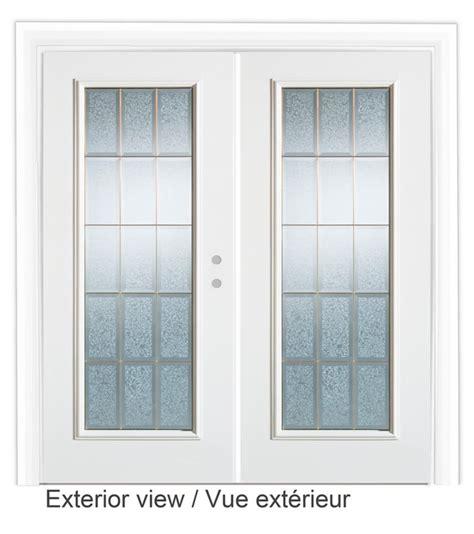 Glass Garden Doors Stanley Doors 72 Inch Decorative Glass Lefthand Garden Door The Home Depot Canada