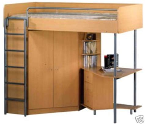 High Bed With Wardrobe And Desk by Atlantis High Sleeper Bunk Bed With Desk And Wardrobe