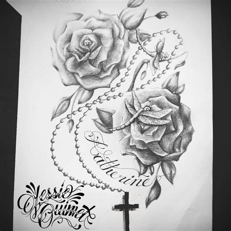 rose tattoo desing ouimet jessieouimet drawing artist