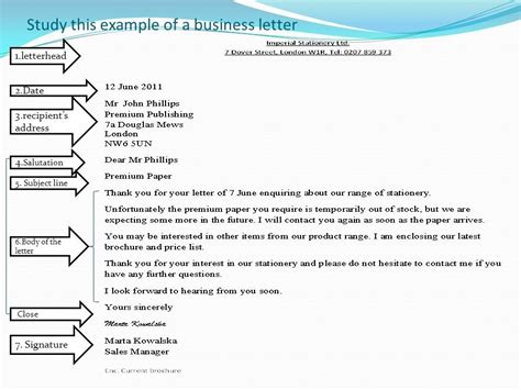 Business Letter Format With Subject Line subject line in business letter the best letter sle