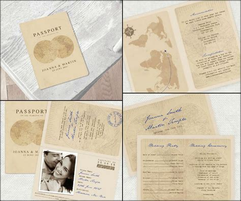 passport wedding invitations send a one way ticket to