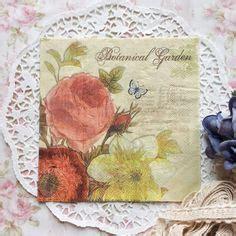Promo Tissue Decoupage quot sumer flowers quot pack of 20 paper napkins 33x33cm 3ply decoupage floral co uk