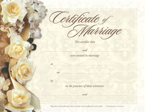 marriage certificate templates free 9 best images about souvenir wedding commitment