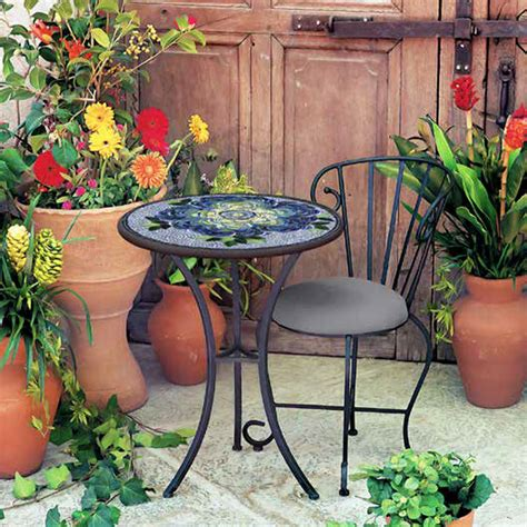 outdoor mosaic bistro knf garden designs knf mosaic bistro 24 quot