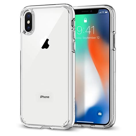 Spigen Iphone X Original Shell Casing Cover Clear Cryst iphone x 10 spigen 174 ultra hybrid transparent clear cover with ebay