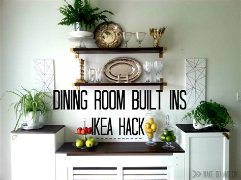 ikea hack for built in dining room storage when you