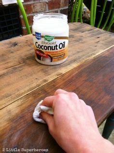 how refinish wood with coconut oil hydrates the brings kitchen cabinet lacquer furniture