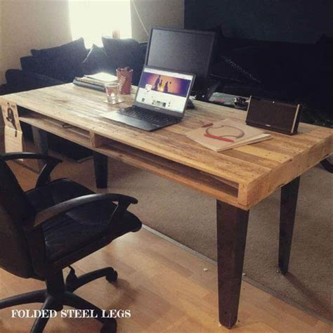 desk made from pallets wood pallet computer desk dining 101 pallets