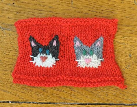 pattern for cat christmas stocking dog and cat knitted christmas stocking ornaments