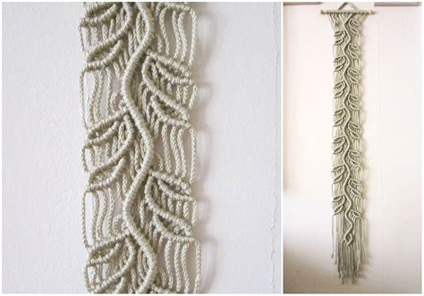Wall Hangings Handmade - macrame wall hanging sprig handmade macrame home decor