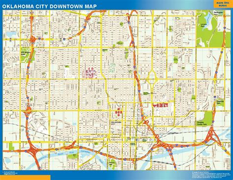 oklahoma city map world wall maps store oklahoma city downtown map more than 10 000 maps our oklahoma