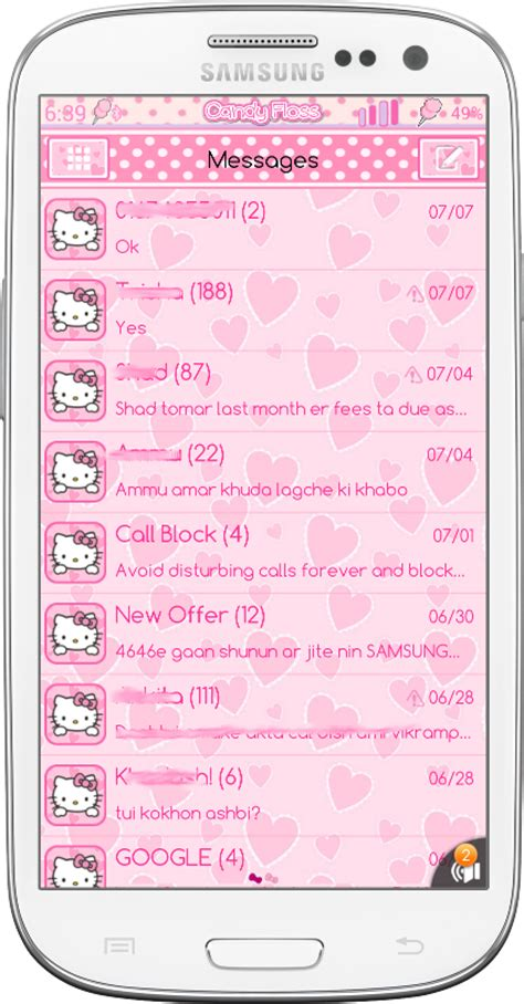theme hello kitty sms download theme android cute hello kitty go sms and go