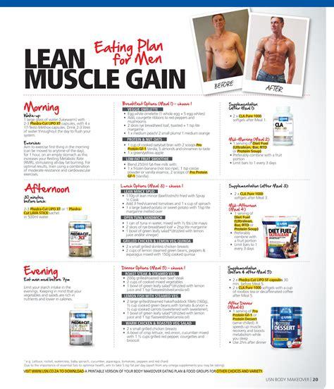 printable bodybuilding meal planner sle diet plan for lean muscle gain salegoods