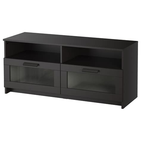 tv bench with storage brimnes tv bench black 120x53 cm ikea
